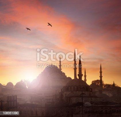 istock Sunset in Istanbul 108351090