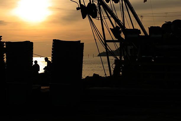 Sunset in Kota Kinabalu stock photo