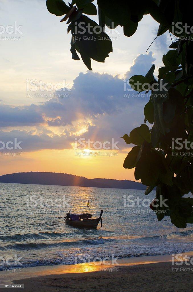 Sunset in Krabi royalty-free stock photo