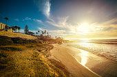 Sunset in La Jolla shore. California, USA
