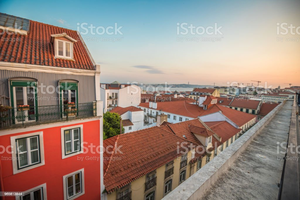 Sunset in Lisbon - Royalty-free Blue Stock Photo