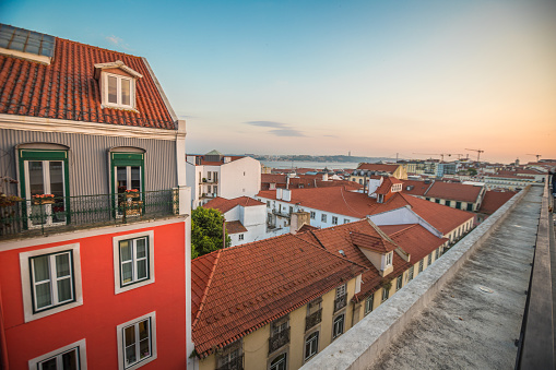 Sunset In Lisbon Stock Photo - Download Image Now