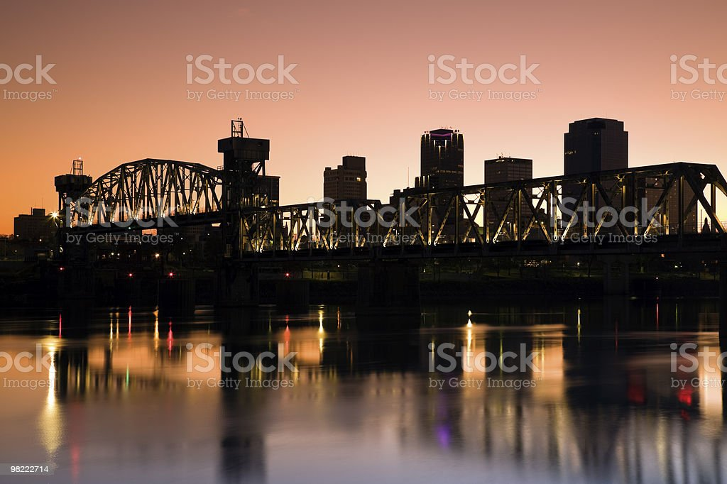 Sunset in Little Rock, Arkansas. royalty-free stock photo