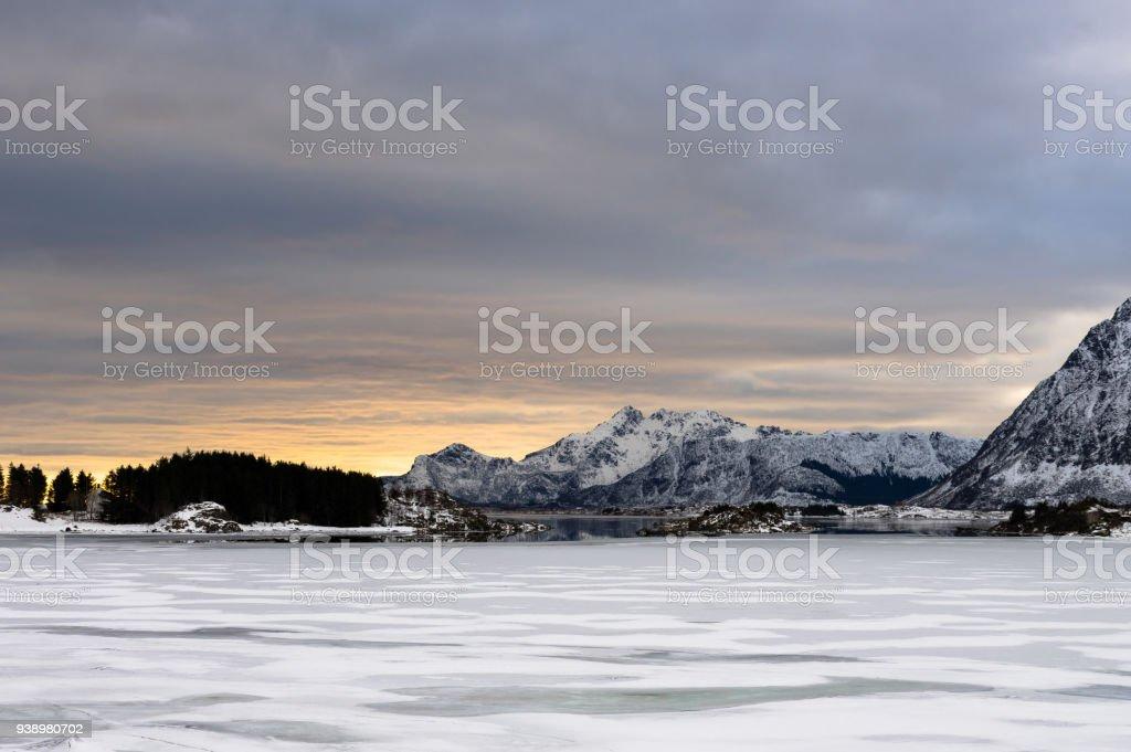 Lofoten gün batımı royalty-free stock photo