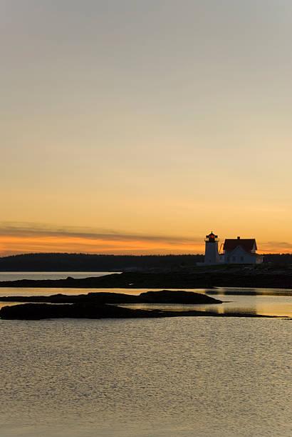 Sunset in Maine stock photo