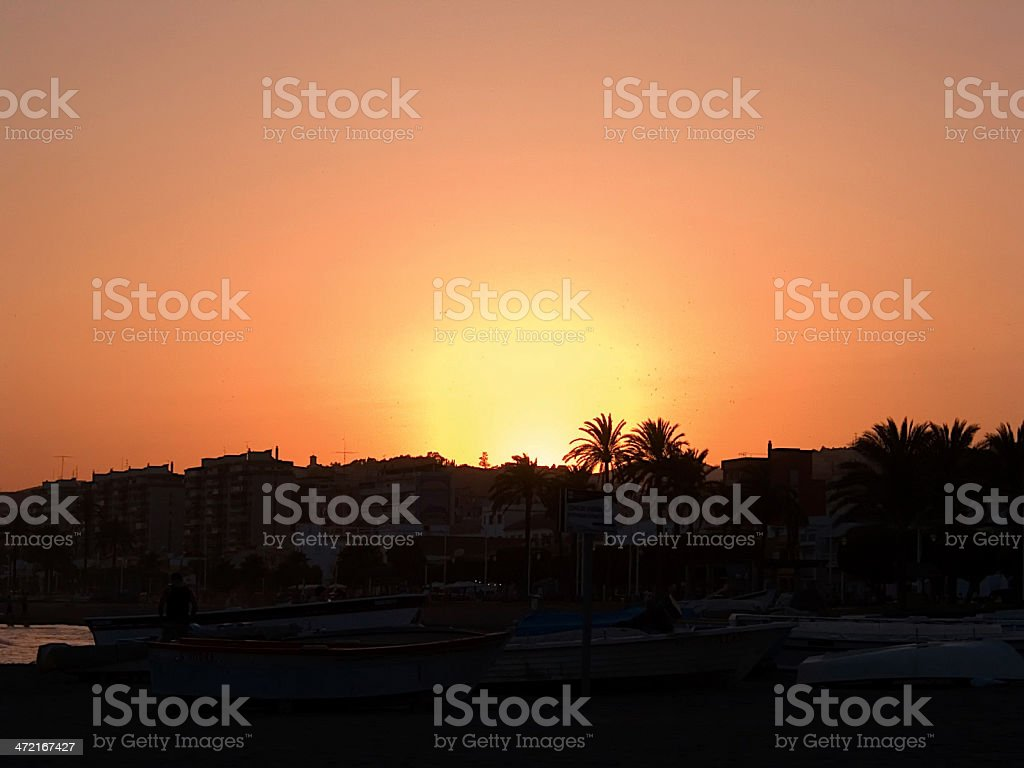 Sunset in Malaga royalty-free stock photo