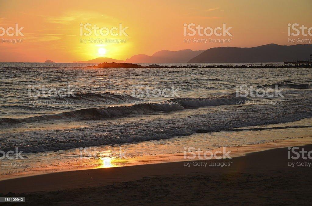 Sunset in Massa royalty-free stock photo