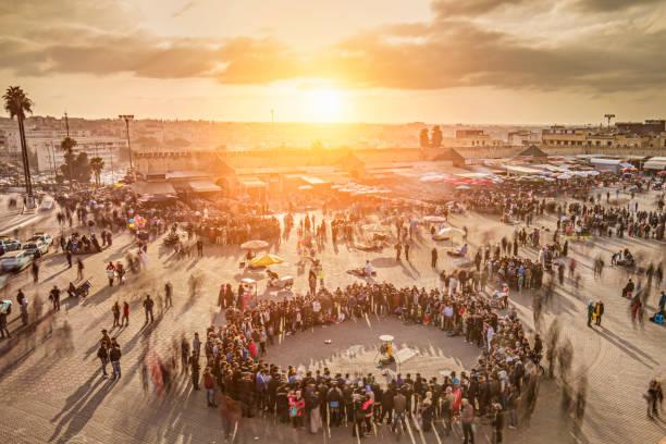 Puesta de sol en Meknes - foto de stock