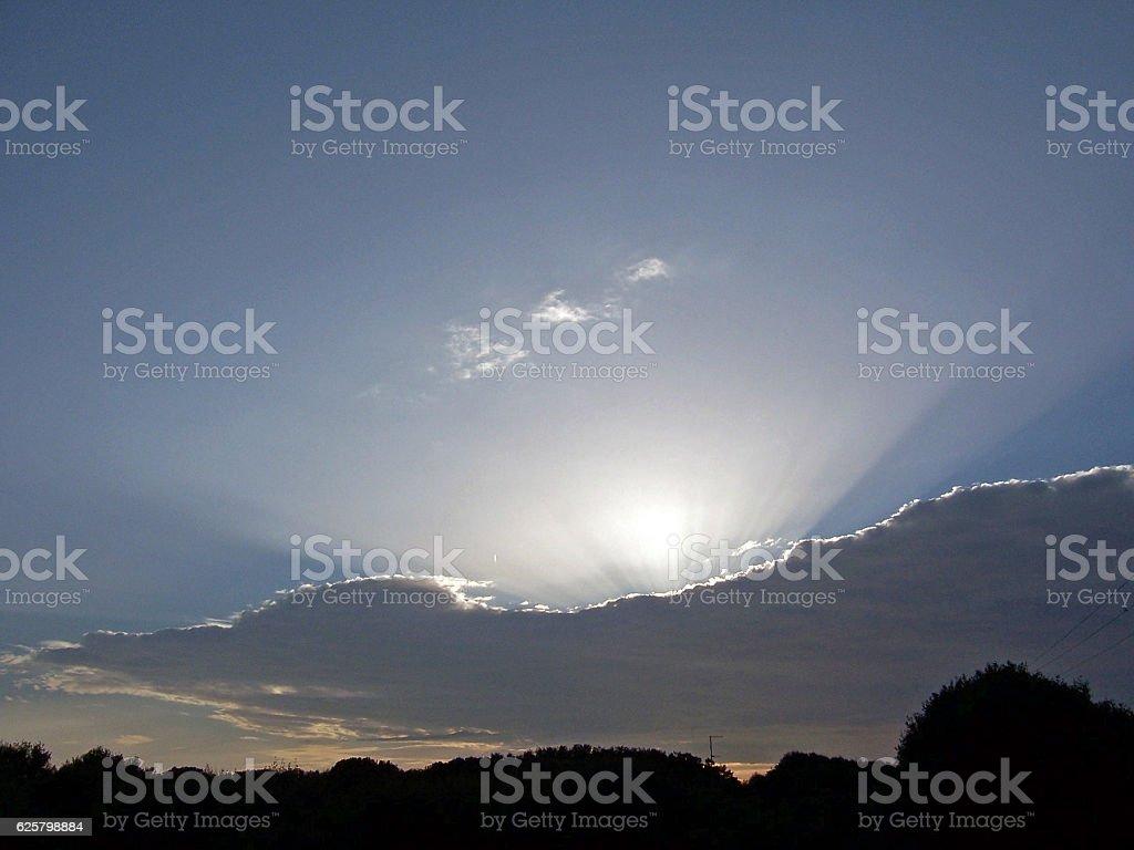 Sunset in Menorca stock photo