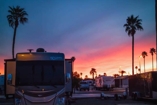 Sunset in Mesa Spirit stock photo