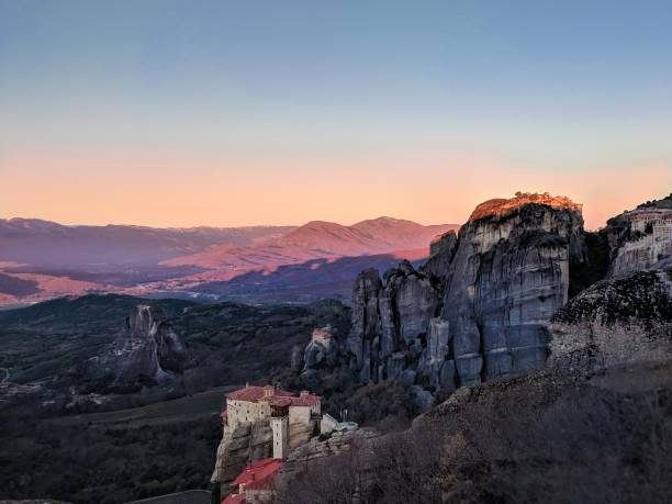 Sunset in Meteora, Griechenland – Foto
