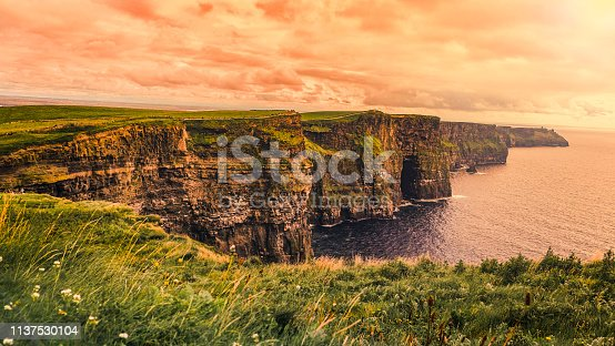 Full frame shot Moher of Cliff in Clare , Ireland