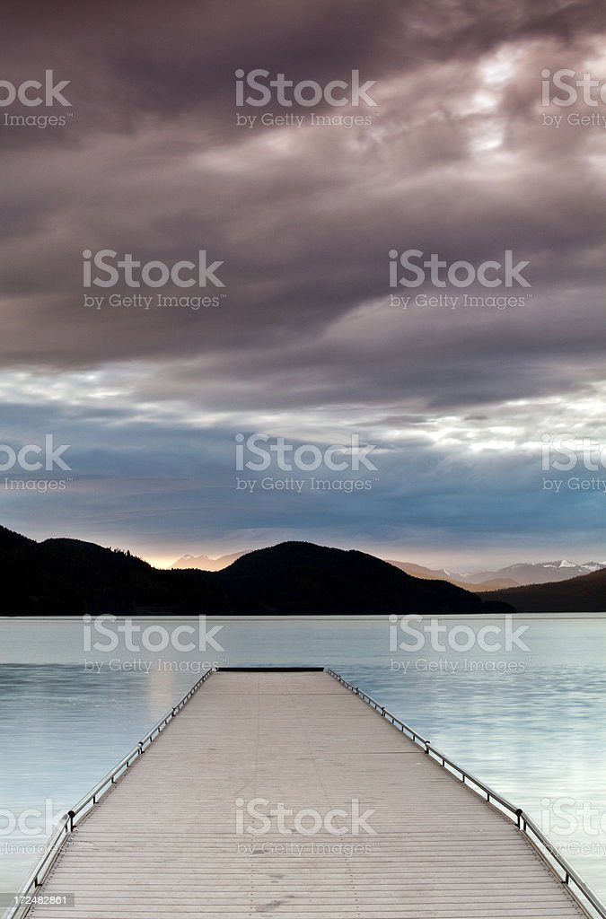 Sunset in Montana on a moody summer night. royalty-free stock photo