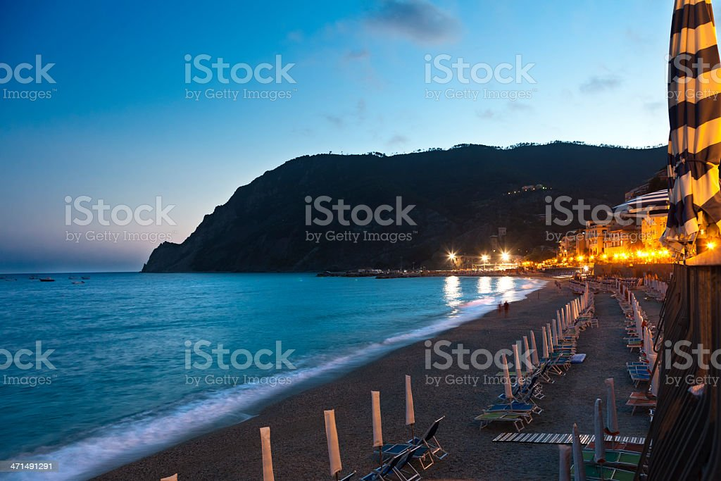 Sunset in Monterosso, Cinque Terre royalty-free stock photo