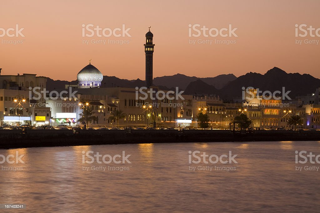 Sunset in Muscat, Oman. royalty-free stock photo