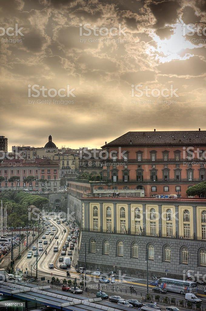 Sonnenuntergang in Neapel, Italien – Foto