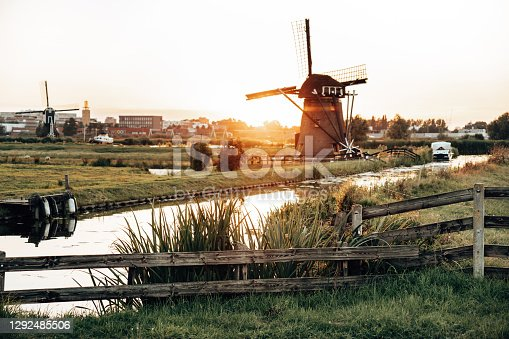 sunset in netherland