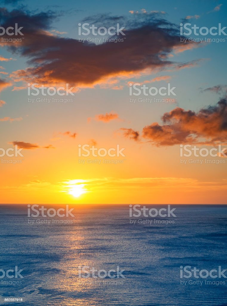 Sunset in Nicaragua royalty-free stock photo