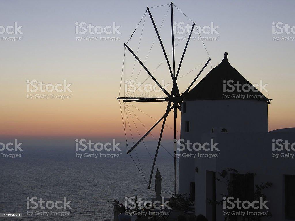 Sunset in Oia (Santorini) royalty-free stock photo