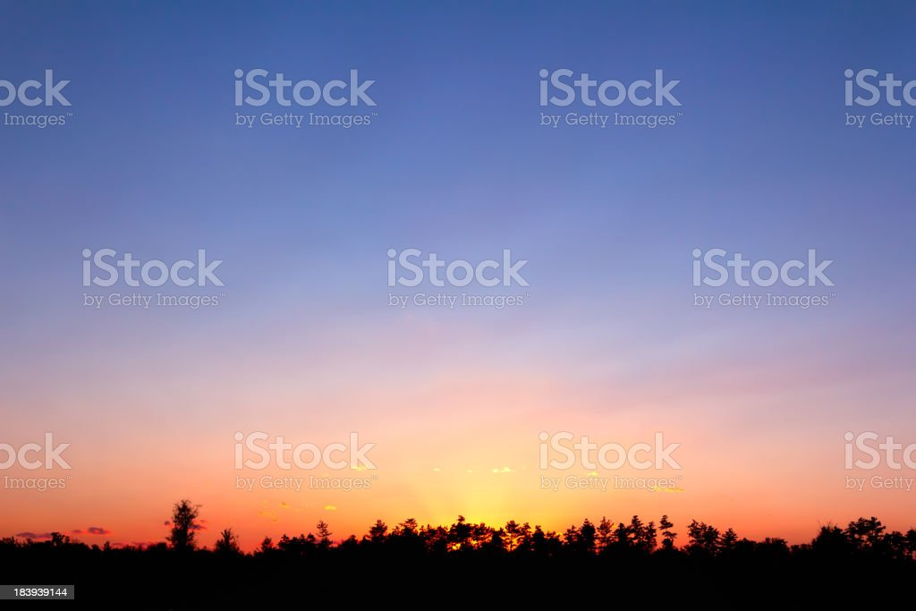 Sunset in Olympic Green(Series) royalty-free stock photo