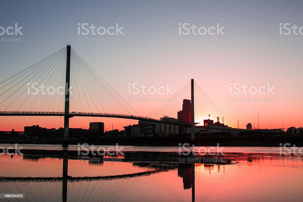 Sunset In Omaha stock photo