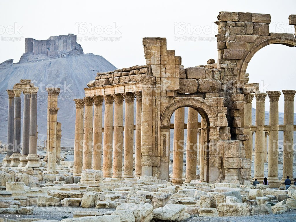 Sunset in Palmyra royalty-free stock photo
