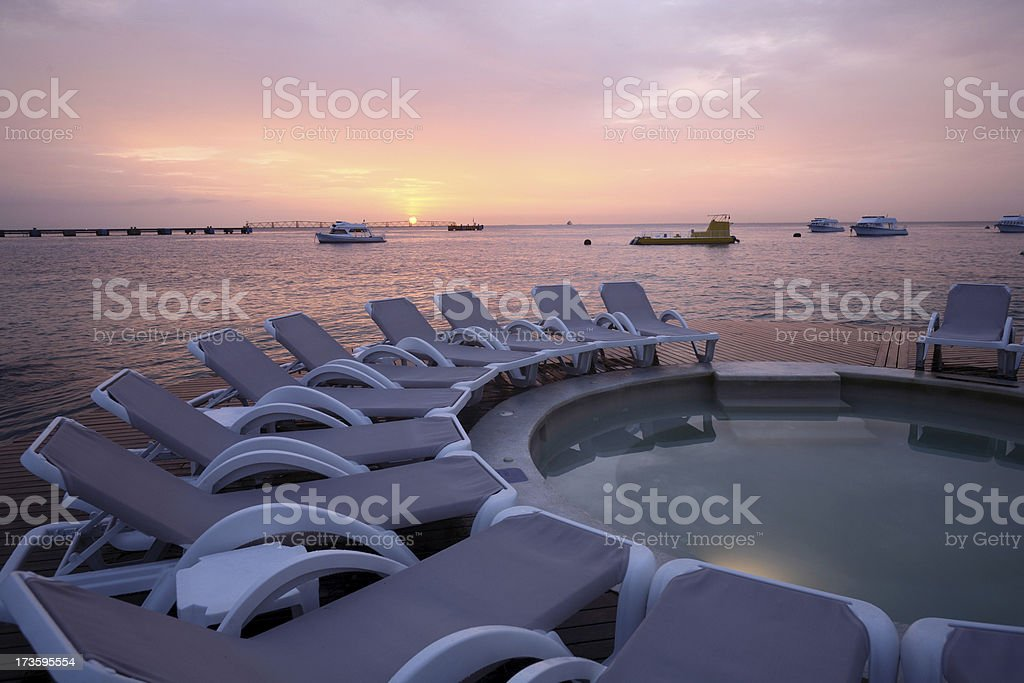 Sunset in paradise Cozumel royalty-free stock photo