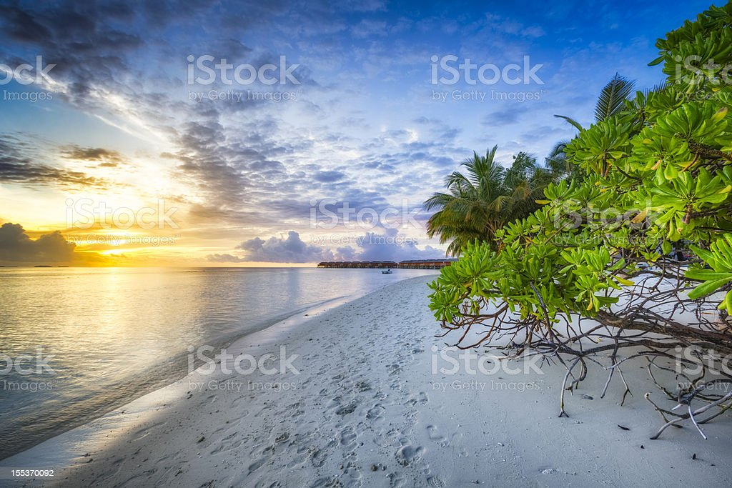 Sunset in Paradise royalty-free stock photo