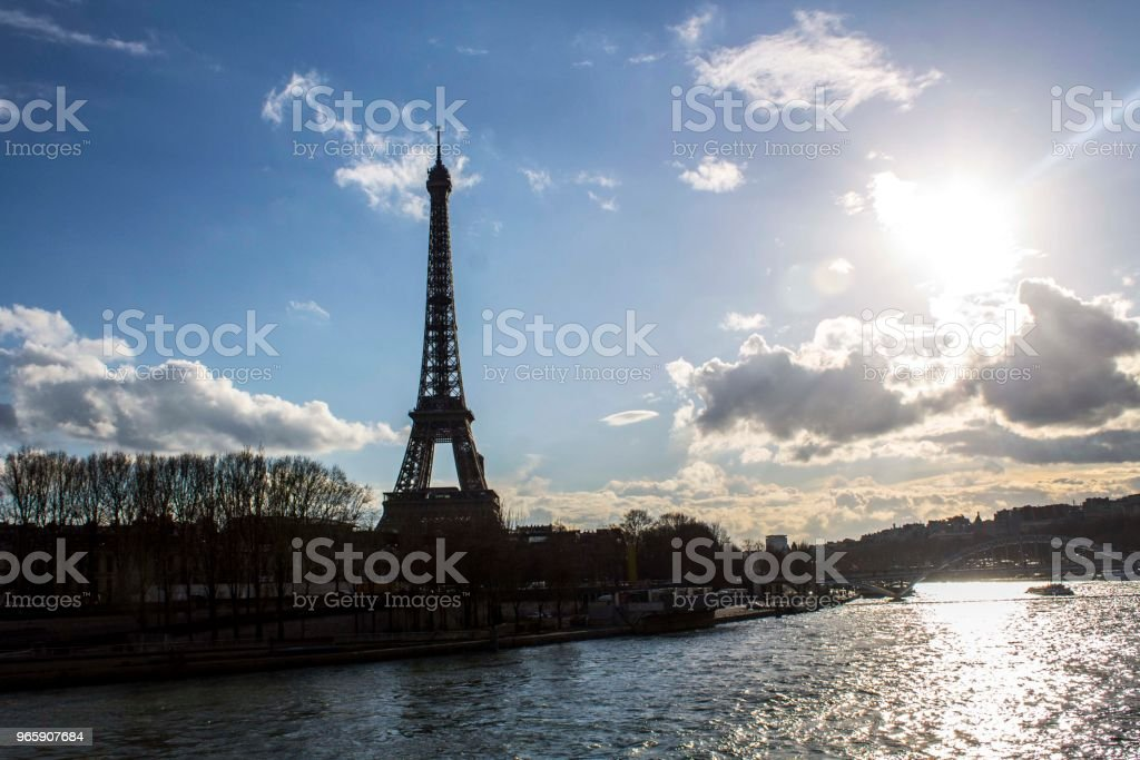 Sunset in Paris - Royalty-free Architecture Stock Photo