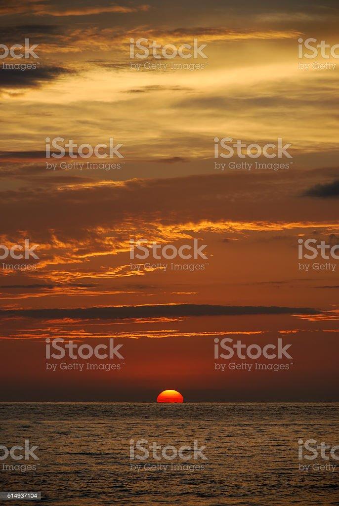 Sunset in Puerto Vallarta stock photo
