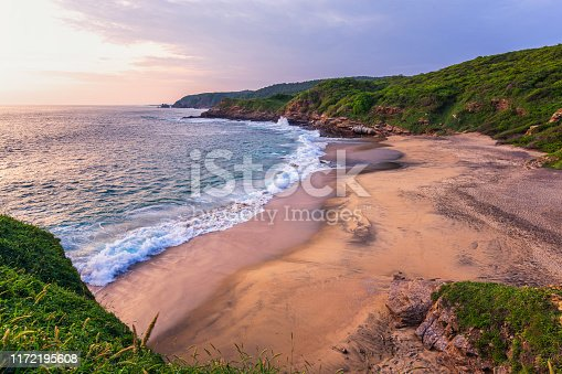 beautiful sunset shot in Punta Cometa, Mazunte - Chiapas, Mexico