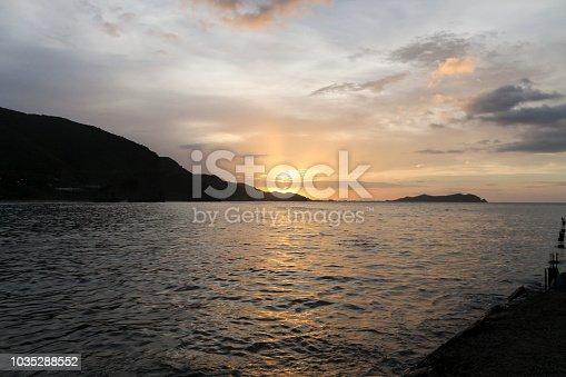 Sunset in Rio Caribe, Venezuela