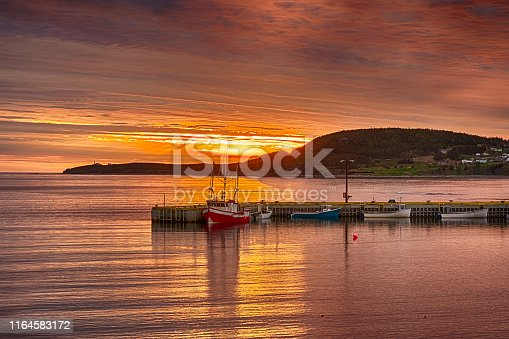 458694311 istock photo Sunset In Rocky Harbour, Newfoundland 1164583172