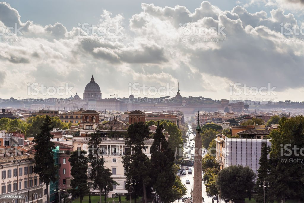 Sunset in Rome stock photo