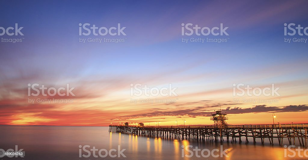 Sunset in San Clemente, California stock photo