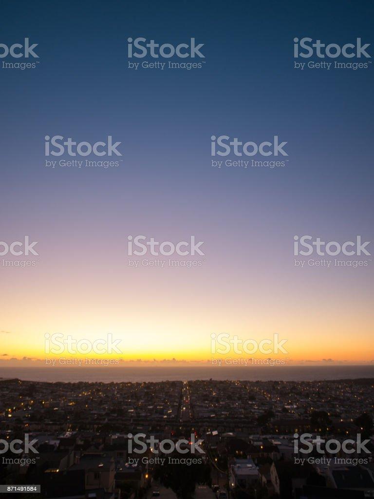 Sunset in San Francisco - foto stock