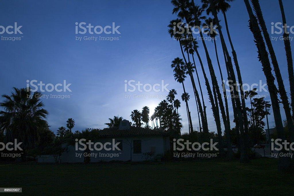 Sunset in Santa Barbara royalty-free stock photo