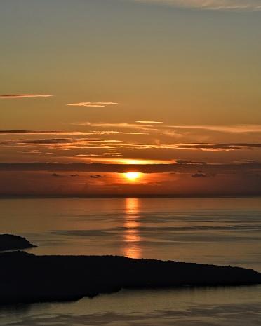 Sunset on an island