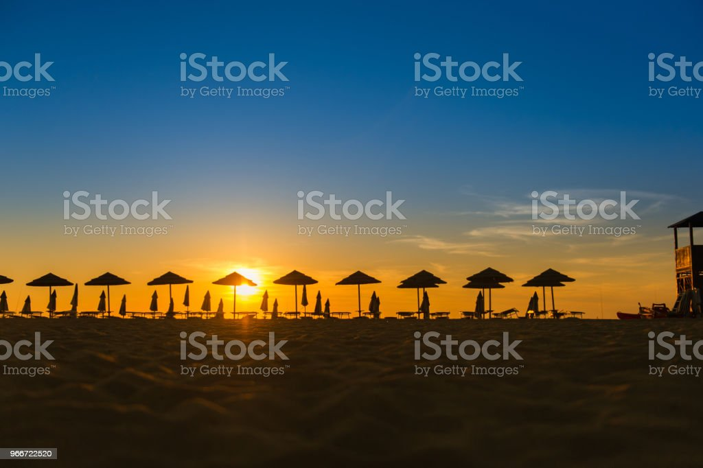 Sunset in Sardinia, Italy stock photo