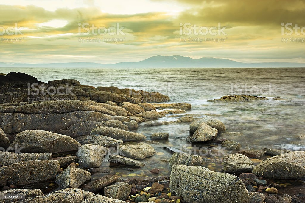 Sunset in Scotland royalty-free stock photo