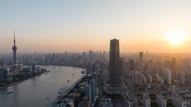 Sonnenuntergang in Shanghai – Foto