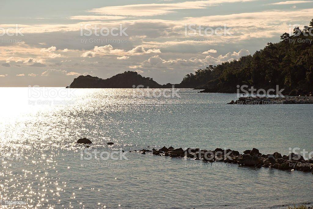 Sunset in Skala Potamia 2 stock photo