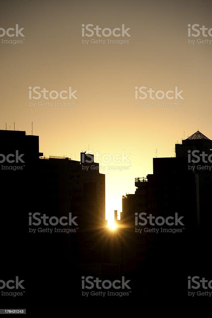 Sunset in São Paulo royalty-free stock photo