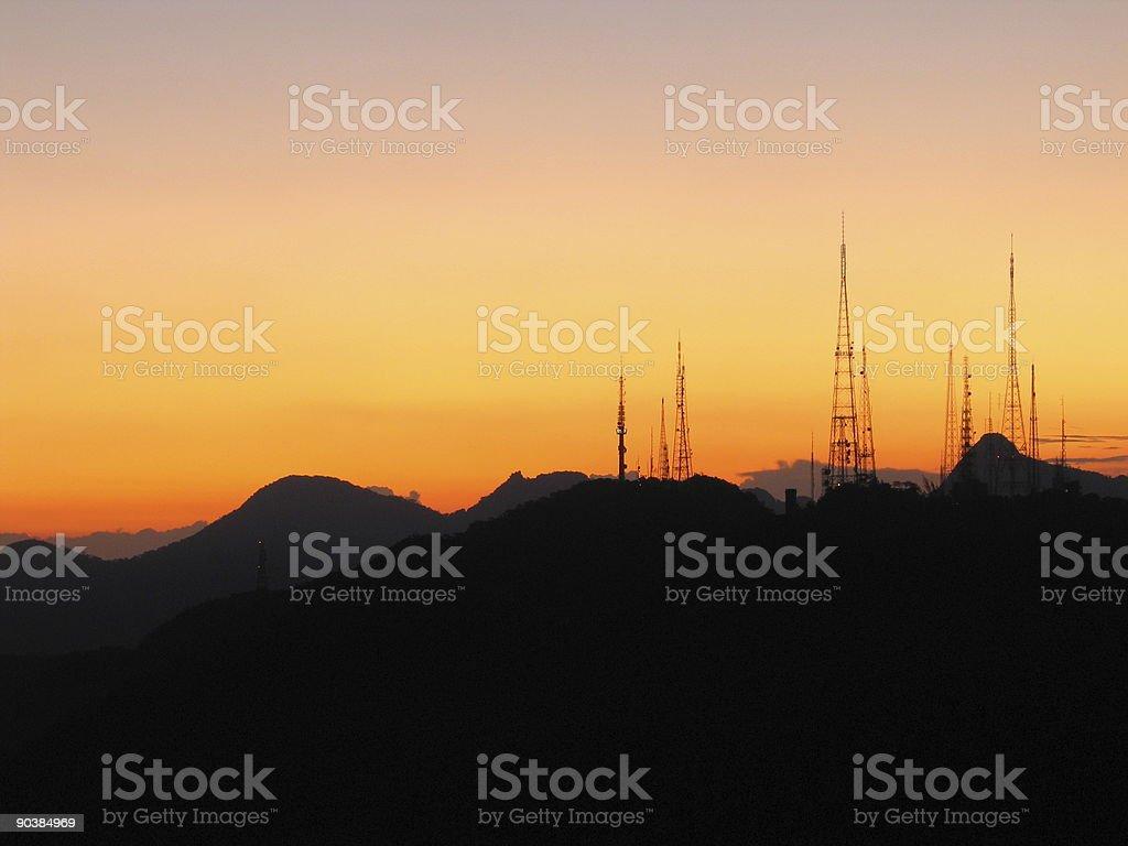 Sunset in Sumare stock photo