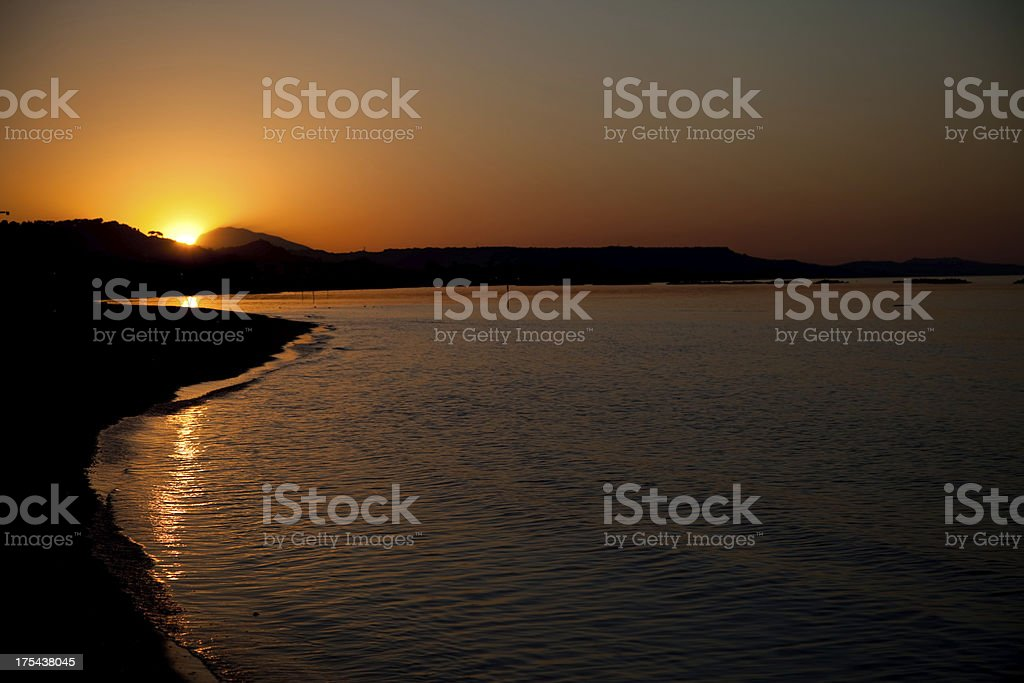 Sunset in summer royalty-free stock photo