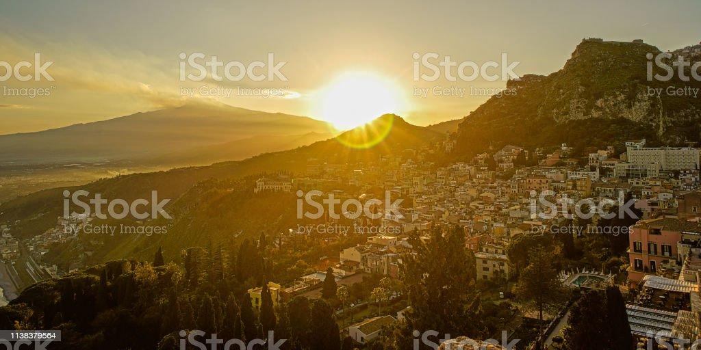 Sonnenuntergang in Taormina – Foto