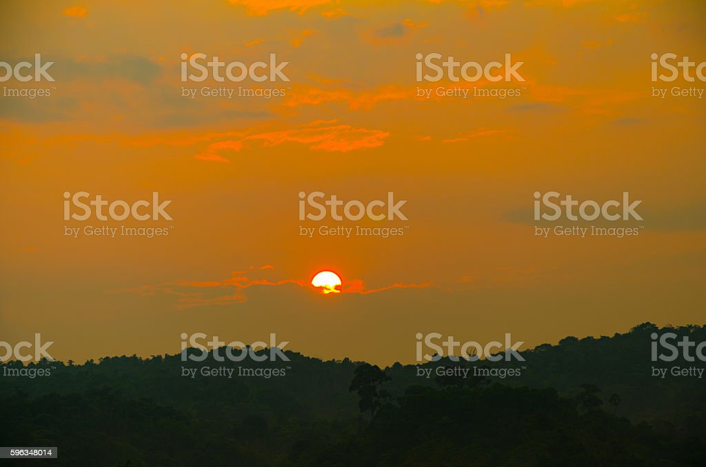 Sunset in thailand royalty-free stock photo