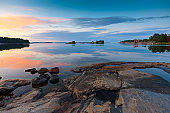istock Sunset in the archipelago 155416113