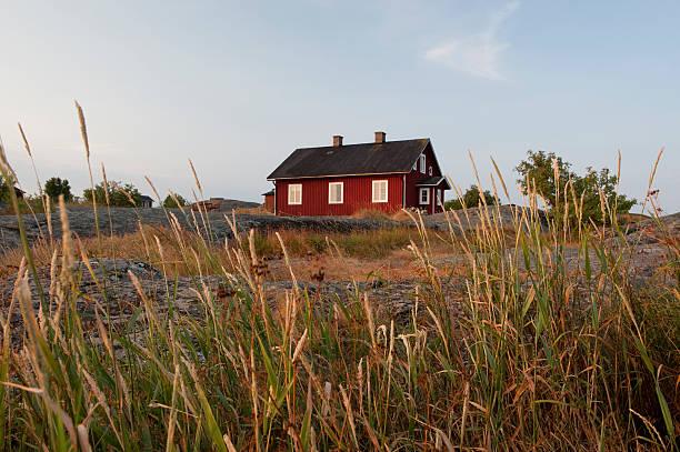 Sunset in the archipelago bildbanksfoto
