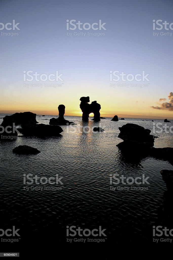 Sunset in the arkipelag royalty-free stock photo